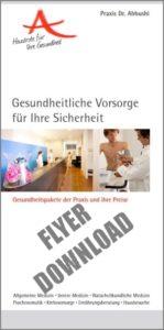 Download des Flyer zu den Vorsorgeuntersuchungen
