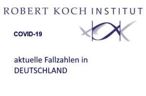 Corona Virus: aktuelle Fallzahlen in Deutschland (Robert Koch Institut)