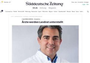 Coronakrise Dr. Oliver Abbushi Versorgungsarzt Landkreis München